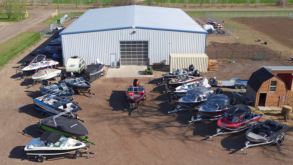 Riverrunner Boat Dealership Back Lot